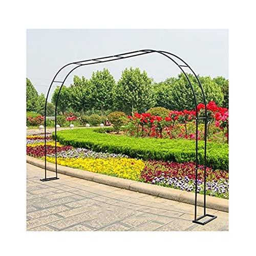 Gnova Arco de jardín con Base Desmontable,Enrejado Soporte para Boda al Aire Libre,Decoración,pérgola para Vid Enredaderas Plantas,3 Colores