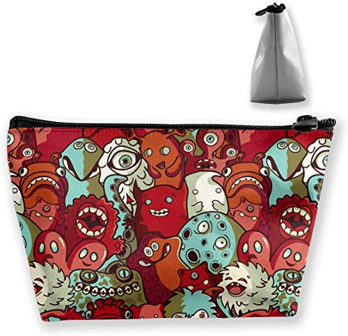 Lovely Smile Skull Multifunction Portable Pouch Trapezoidal Storage Travel Bag