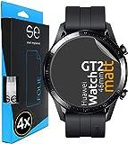 3D Protector de Pantalla compatible con Huawei Watch GT 2 [4 unidades   smart engineered] - Pelicula vidrio TPU -Estera, resistente al agua, lámina blindada de TPU