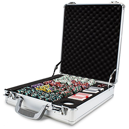 Purchase Claysmith Gaming 500ct Monaco Club Poker Chip Set in Aluminum Carry Case, 13.5-Gram Heavywe...