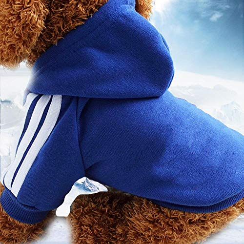 Dikker Huisdier Hond Kleding Winter Warm Hond Sweatshirt Huisdier Kleding Hoodies voor Kleine Medium Honden Leuke Puppy Outfit XS-XXL, Drak Blauw, M