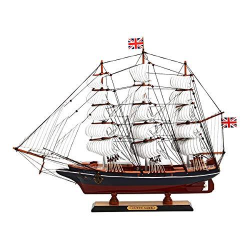 AVANI EXCHANGE Náutico de Madera Cutty Sark Barcos de Vela Modelo de Barco de Vela Modelo de Barco Decoración 65x12x48cm