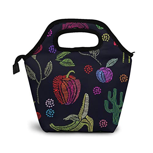 Bolsa Térmica Comida Bolsas De Almuerzo para Mujeres Hombres Niñas Niños Bolsa Isotérmica De Almuerzo Jardín de verano Floral 85