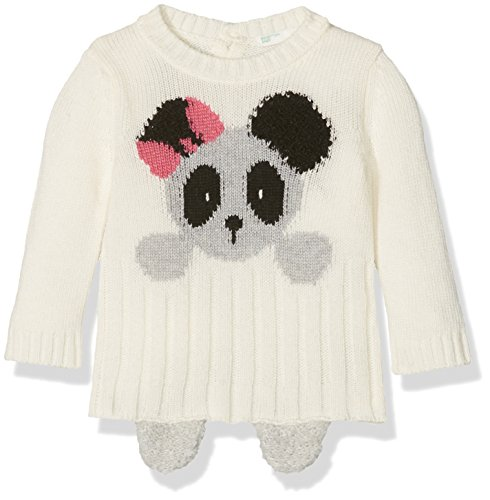 United Colors of Benetton United Colors of Benetton Baby - Jungen Sweatshirt SWEATER L/S, Weiß (Off White 911), 68