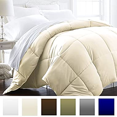 Beckham Hotel Collection 1600 Series - Lightweight - Luxury Goose Down Alternative Comforter - Hotel Quality Comforter and Hypoallergenic - King/Cali King - Cream