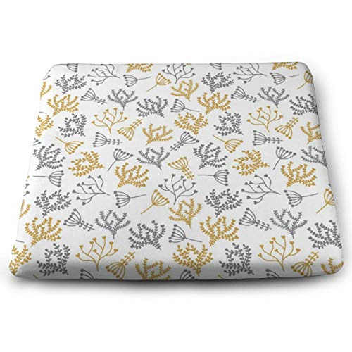 Sanghing Customized Floral Pattern in Doodle 1.18 X 15 X 13.7 in Cushion, Suitable for Home Office Dining Chair Cushion, Indoor and Outdoor Cushion.