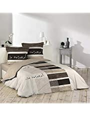 Douceur D'Intérieur SO NATURAL - Juego de edredón con 2fundas de almohada de Douceur d'Intérieur , algodón, Estampado, 240 x 260 cm