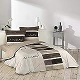 Douceur D'Intérieur - Juego de edredón con 2fundas de almohada, algodón, Estampado, 200 x 200...