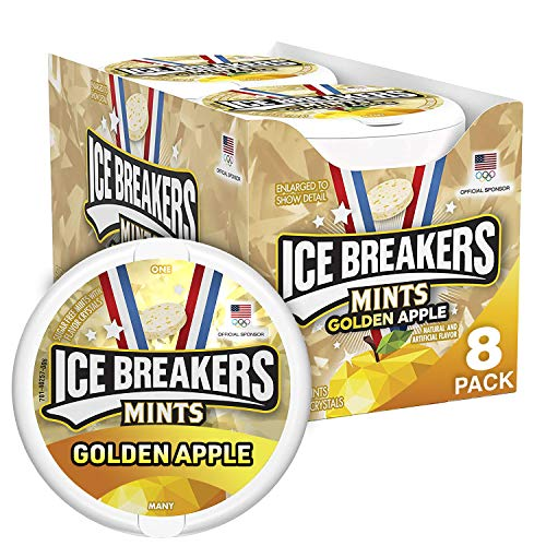 Ice Breakers Mints, Sugar Free, New! Golden Apple Flavor, 8 Count, 8 Ounce