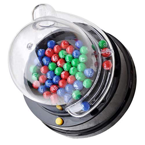 TOYANDONA Batido Eléctrico Máquina de Bolas de La Suerte Máquina de Garras Dispensador de Bolas Números Colores Máquina de Chicles Mini Máquina Expendedora de Juguetes para Fiestas Regalos