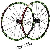 NS Ultraligero Ciclismo Ruedas 26, híbrido de Bicicletas MTB de Doble Pared del Borde de liberación rápida V-Brake/Orificio del Disco 7 8 9 10 135 mm Velocidad Actuación (Size : 26inch)