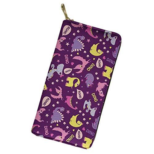 IUBBKI Carteras de Piel Carteras de Mujer Hipster Patterned Women Long Wallet Clutch Purse Zip PU Leather Card Holder
