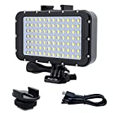 Suptig Underwater Lights Dive Light 84 LED High Power Dimmable Waterproof LED Video Light Waterproof 164ft(50m) for...