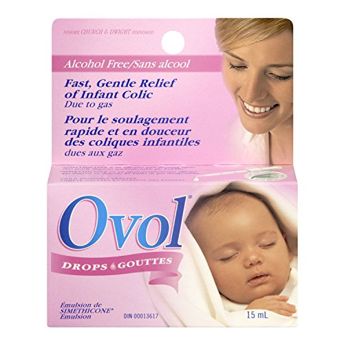 OVOL Infant DROPS for Fast & Gentle Relief of Infant Colic Gas 15 ml Made in Canada