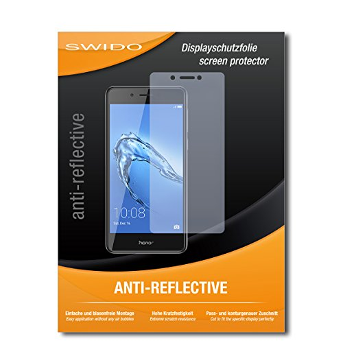 SWIDO Schutzfolie für Huawei Honor 6C [2 Stück] Anti-Reflex MATT Entspiegelnd, Hoher Festigkeitgrad, Schutz vor Kratzer/Bildschirmschutz, Bildschirmschutzfolie, Panzerglas-Folie