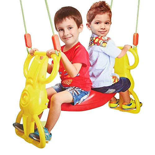 COLOR TREE Wind Rider Swing Seat Set Back-to-Back Glider Heavy Duty Dual Ride Set Glider for 2 Kids (Need Heavy Duty Swing Hangers, Not Included)
