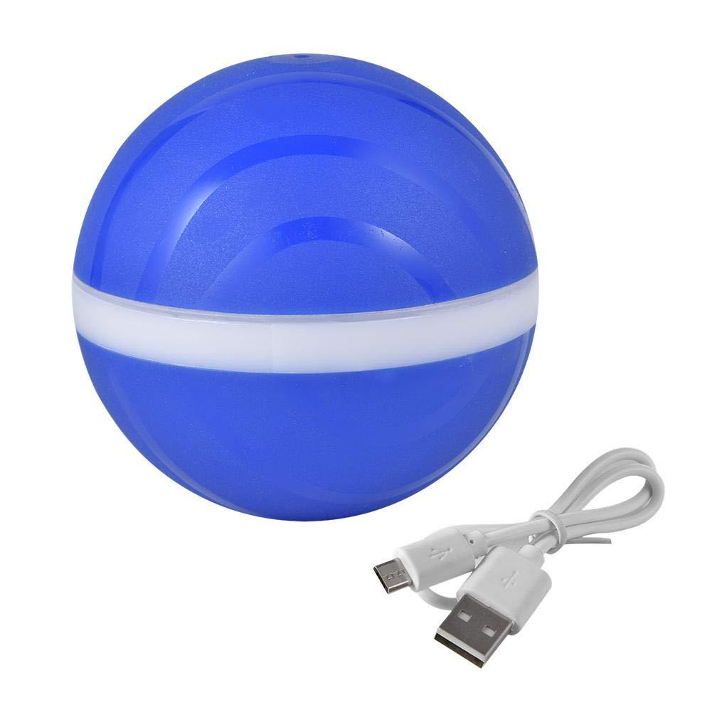 Juguete Gato Pelota, Carga USB Bola Giratoria Automática, LED Luz ...