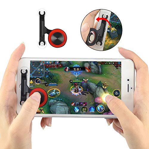 Newseego Controlador de Juegos móvil, Joystick Gaming Controller Juego de Pantalla táctil 360 Thumb Stick para PUBG/Rules of Survival/Knives out para Android y iOS (Negro)