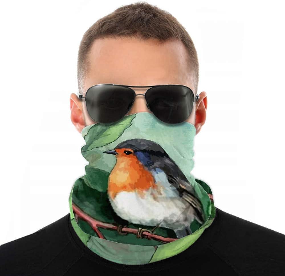 Headbands For Men Women Neck Gaiter, Face Mask, Headband, Scarf Bird On Branch Turban Multi Scarf Double Sided Print Headwraps For Women For Sport Outdoor