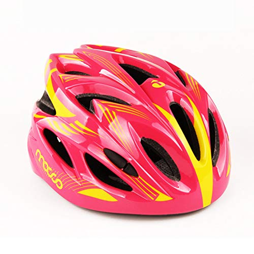 Bicycle Helmet for Kids, Cycling Helmet Road Bicycle Adjustable Boys &Girls Safety Lightweight Child Helmet for Street Sport Biking Scootering Rollerblading,Pink,M