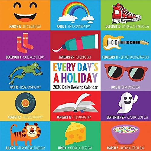 2020 Every Day's A Holiday Daily Desktop Calendar