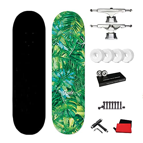 VOMI Skateboard Patineta Completa 31'x 8', 7 CapasMaple Cruiser Tabla de Skate, Rodamientos de Bolas ABEC-11, con T-Tool y Mochila, para Principiantes, Adolescentes, niños, niñas,B