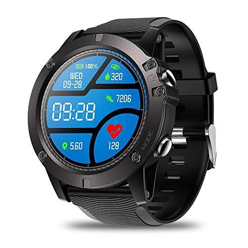 XXxx Reloj Inteligente con Pantalla táctil Bluetooth detección de frecuencia cardíaca Ejercicio de Larga Espera/Correr/Fitness/Yoga/natación,Black