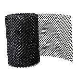 B Blesiya Protector de canalón de techo Malla de plástico - Cubierta de canalón Protector de malla Protector de malla de fácil instalación Protector de canalón - 18cmx8m Sin ganchos