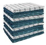 HOME LABELS TRANSFORM YOUR LIVING Kitchen Towel 12 Pack, 15'x25' Cotton, Machine Washable Extra Soft Set of 12, 3 Designs Dobby Weave Kitchen Dish Cloths, Tea Towels, Bar Towels
