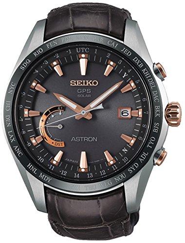 Seiko astron Herren Uhr analog Automatik mit Leder Armband SSE095J1