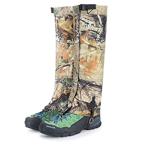 Camo Legging Gaiters Waterproof Snowboard Boots Cover Trekking Leg Shoes Gaiters for Hiking Traveling Hunting