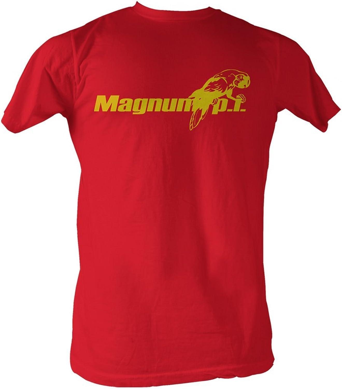 Magnum P.I. - Beach Logo Mens T-Shirt In Red