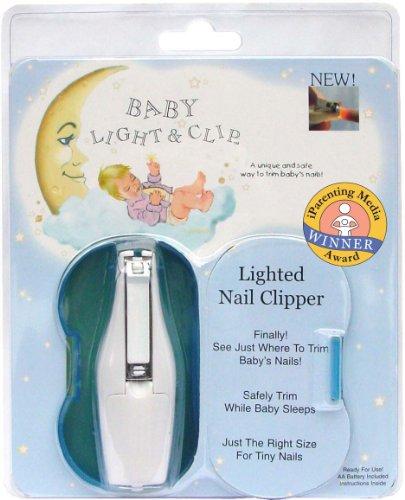Coupe-ongles pour bébé avec Lumière et boîte