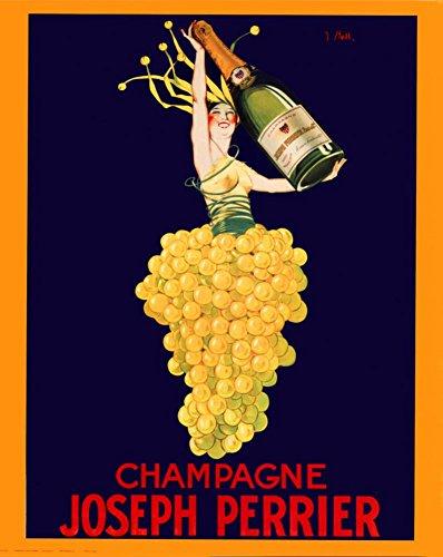 Eurographics Champagner Joseph Perrier. Poster, Vintage-Stil, Reproduktion, 16 x 20 cm
