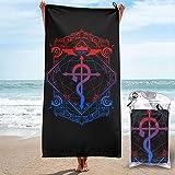 XCNGG Fullmetal Alchemist Toalla de baño Absorbente de Secado rápido Toalla de Viaje Ligera Toalla de Playa de natación Duradera para Piscina Gimnasio Camping Yoga Hogar 31.5 'x63'