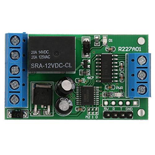 LANTRO JS - 1 canal 2 en 1 relé 12V Componente de interruptor de control remoto para motor de coche