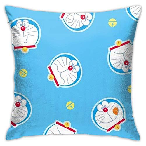 Suzanne Betty Doraemon - Funda de cojín decorativa para sofá, asiento de coche, suave 45,7 x 45,7 cm
