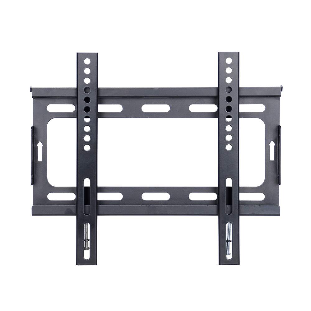 CNYF14-42 - Soporte fijo de pared para televisores LED, LCD, 3D, curvado, plasma, pantallas planas, capacidad de carga de 25 kg, color negro: Amazon.es: Electrónica