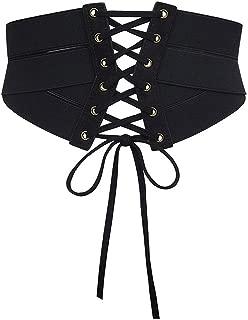 Women's Elastic Stretch Wide Band Waspie Corset Waist Belt