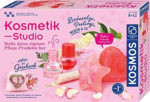 KOSMOS 671563 Kosmetik-Studio, Stelle deine eigenen Pflege-Produkte für dich oder als Geschenke her, Amazon Exclusive, Experimentierkasten für Kinder ab 8-12 Jahre zu Beauty Schönheit Spa und Wellness