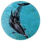 Nadar con delfines de mar Alfombra del área del bebé Alfombrilla redonda suave decoración antideslizante para niños pequeños 160cm