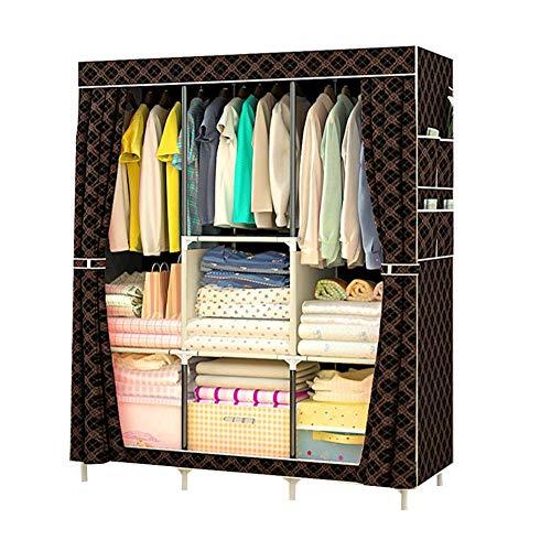 HPYR Armario grande de lona para ropa, contenedor de almacenamiento modular, resistente y difícil de deformar-4