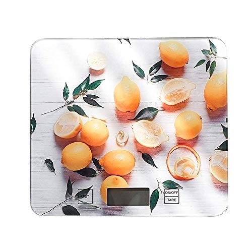 Kitchen Home Multifunctionele digitale keukenweegschaal Elektronisch koken Voedselweegschaal Ultraslank ontwerp Nauwkeurig wegen Home Kitchen Multifunctionele gehard glazen schaal met aanraakgevoelige knoppen, paars