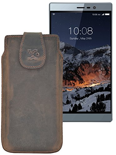 Original Suncase Tasche für Switel eSmart M3 | Leder Etui Handytasche Ledertasche Schutzhülle Case Hülle / in antik-braun