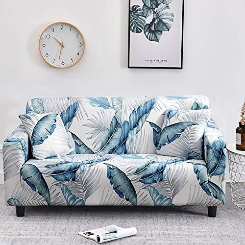 Funda elástica para sofá Fundas de sofá a Cuadros para Sala de Estar Funda para Silla de sofá Totalmente Envolvente Sillón Protector Antipolvo para Muebles A22 4 plazas
