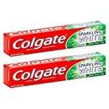 Colgate Sparkling White Mint Zing Toothpaste with Baking Soda ~ 4oz Tubes (2 Pack)