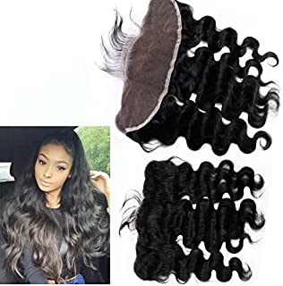 8A Unprocessed Peruvian Loose Body Wave Lace Closure 13x4 Virgin Human Hair 3/Three Part Cheap Swiss Lace Closures Bleached Knots 12