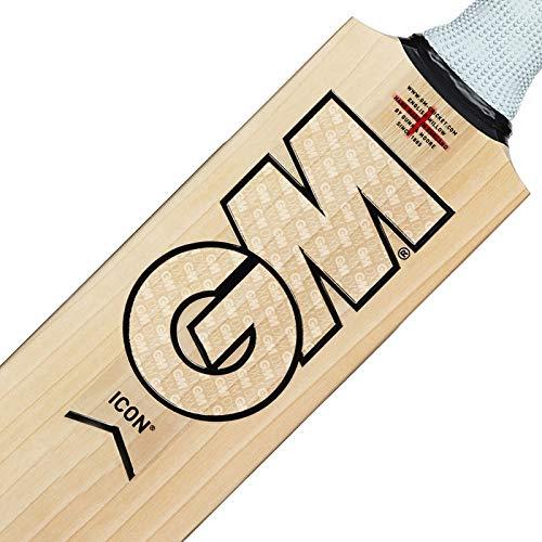 Gunn & Moore Icon DXM Signature Kricket-Schläger, durchsichtig/schwarz, Kurzer Griff