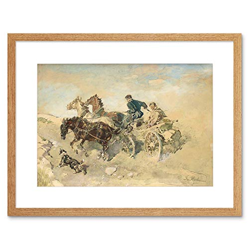 Wee Blue Coo Schilderij Exterieur Studie Paard Bochmann Estse Boer Omlijst Muur Art Print