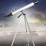 GGPUS Télescope astronomique + Lunette de Voyage monoculaire Télescopes réfracteurs astronomiques pour Enfants Adultes débutants, Longueur focale 600 mm, Miroir à 90 degrés Zenith